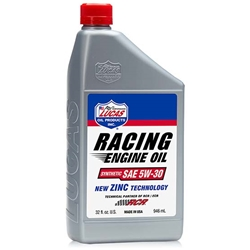 Lucas Oil 10885 Synthetic SAE 5W-30 Racing Motor Oil, 6 Quarts