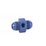 Inline Fuel Pressure Adapter, -8 AN to -8 AN w/ 1/8Inch NPT, Blue