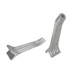 Ribbed Aluminum Headlight Brackets, Plain