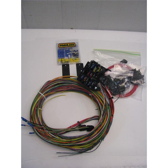 Universal Wiring Harness Reviews : Garage sale painless circuit universal wire harness