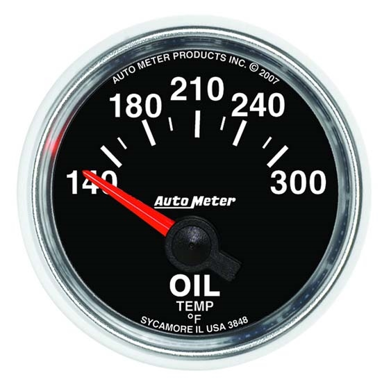 Auto Meter 3848 GS Air-Core Oil Temperature Gauge, 2-1/16 Inch
