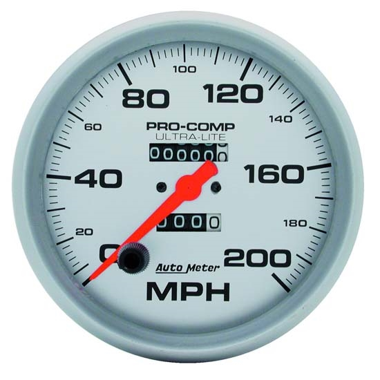 Auto Meter 4496 Ultra-Lite Mechanical Speedometer, 200 MPH, 5 Inch