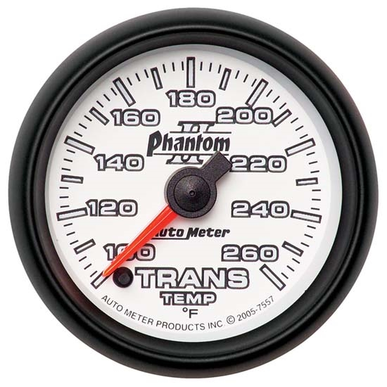 Auto Meter 7557 Phantom II Digital Stepper Motor Trans Temp Gauge