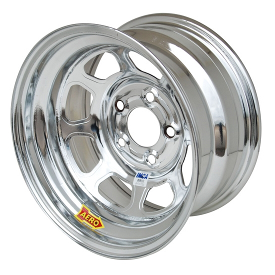 Aero 52-284520 52 Series 15x8 Wheel, 5 on 4-1/2 BP, 2 Inch BS IMCA
