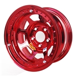 Aero 53-984540RED 53 Series 15x8 Wheel, BL, 5 on 4-1/2, 4 Inch BS IMCA