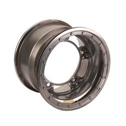 Bassett 58SR2SL 15X8 Wide-5 2 Inch BS Silver Beadlock Wheel