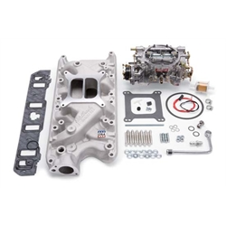 Edelbrock 2031 Single-Quad Intake Manifold/Carburetor Kit, Ford