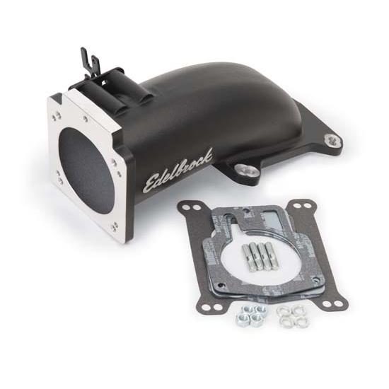 Edelbrock 38473 Intake Elbow Throttle Body Adapter, Black