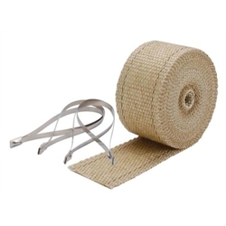 DEi 010122 Exhaust Pipe Wrap and Locking Ties Kit, 2 Inch x 25 Ft, Tan