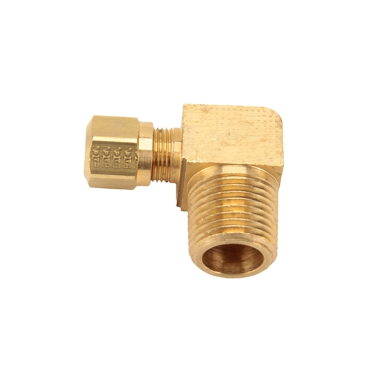 Air suspension tubing male connector elbow fitting