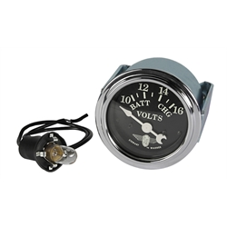 Stewart Warner 82482 Wings Voltmeter Gauge, Black