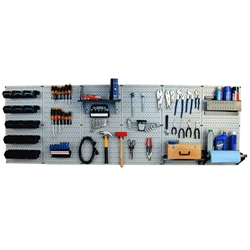 Master Workbench Tool Organizer Assembly Kit, 8 Ft. Long Metal Pegboard