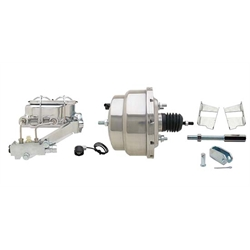 58-70 Fullsize Chevy Brake Booster Kit, 1-1/8 In Bore, Stainless