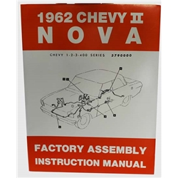 Dave Graham 62-NFA Factory Assembly Instruction Manual 62 Chevy IINova