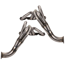 Chevy II Fenderwell Headers, Raw Finish