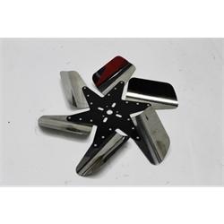 Garage Sale - Perma-Cool 86150 Turbo Flex Reverse Stainless Flex Fan, 15 Inch, Black