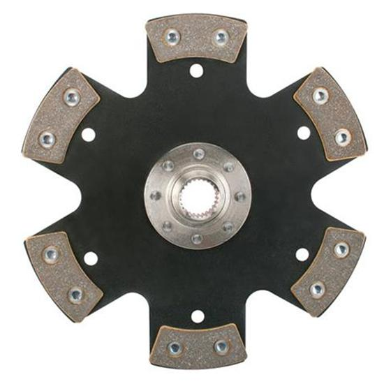 Speedway 10-1/2 Inch Metallic Clutch Disc, Solid Hub, 1-5/32 Inch 26-Spline