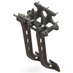 Afco 6.25:1 Reverse Mount Forged Aluminum Pedals