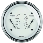 Auto Meter 1630 Old-Tyme White Air-Core Electric Dual Gauge, 3-3/8