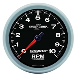 Auto Meter 3698 Sport-Comp II Air-Core In-Dash Tach, 10k RPM, 5 Inch
