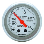 Auto Meter 4303 Ultra-Lite Mechanical Boost/Vacuum Gauge, 2-1/16 Inch