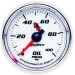 Auto Meter 7121 C2 Mechanical Oil Pressure Gauge, 2-1/16 Inch