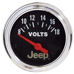 Auto Meter 880242 Jeep Air-Core Voltmeter Gauge, 2-1/16 Inch