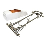 Deluxe 27 T-Bucket Frame Kit w/ Standard Body, Unchanneled Floor