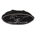 GOBOXES F2000BLKM Ford Mustang Canvas Bag - Black