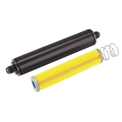 Black 10 Inch Aluminum High Flow Fuel Filter, Paper Element