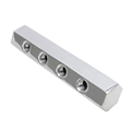 Hex Polished Aluminum Fuel Block, 4-Hole