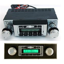 Custom Autosound USA-230B AM/FM Radio w/Black Bezel