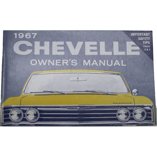 1967 Chevelle Owners Manual