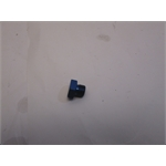 Garage Sale - Aluminum Straight Thread Fitting Plug, Blue, -6 AN