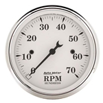 Auto Meter 1695 Old-Tyme White Air-Core In-Dash Tachometer, 3-1/8 Inch
