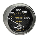 Auto Meter 4837 Carbon Fiber Air-Core Water Temperature Gauge