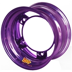 Aero 50-920540PUR 50 Series 15x12 Wheel, 5 on WIDE 5 BP, 4 Inch BS