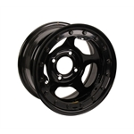 Bassett 38ST3L 13X8 Inertia 4 on 4.5 3 Inch BS Black Beadlock Wheel