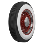 Coker Tire Firestone 3 Inch Whitewall Tire, Bias Ply, Non-Script, 6.50-16