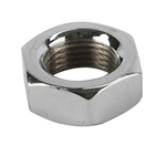 Chrome Steel Jam Nut, 1/2 Inch-20 LH NF Fine Thread