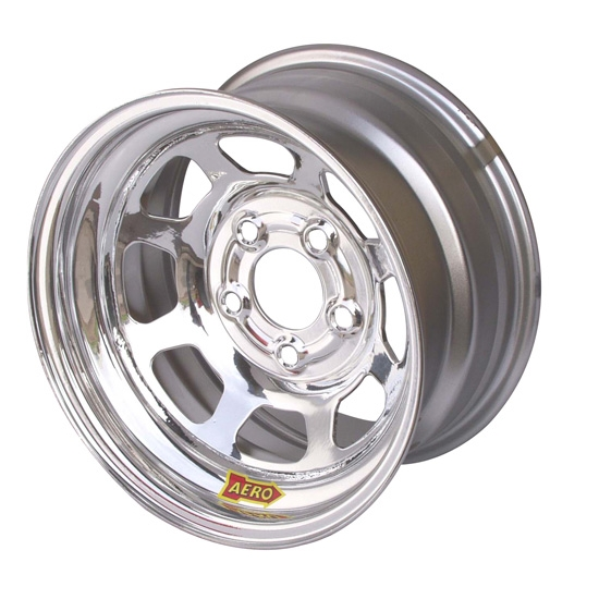 Aero 52-284740W 52 Series 15x8 Wheel, 5 on 4-3/4 BP, 4 Inch BS Wissota