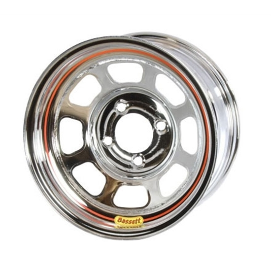 Bassett 58SP2C 15X8 D-Hole Lite 4 on 4.25 2 In Backspace Chrome Wheel