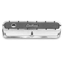 Edelbrock 4295 Elite Series ALuminum Valve Cover Set, Small Block