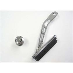 Lokar DBW-6007 Drive-by-Wire Chromed Steel Throttle Pedal w/Rubber