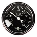 Stewart Warner 82660 Wings Tach, Black