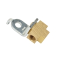 3/8 Inch-24 IFF Each Port with Bracket, Plain Adapter Tee