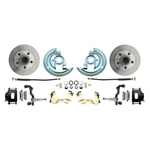 64-72 GM A Body 11 In Disc Brake Conversion Kit, Std Rotors, Black