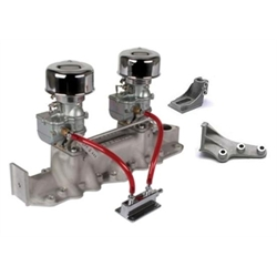 Two Plain 9 Super 7 Carbs, Offenhauser 1073 Super Intake, 42-1948 Ford
