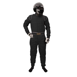 Garage Sale - Speedway 2 Layer Racing Suit, One-Piece, SFI-5, Black, Size Medium