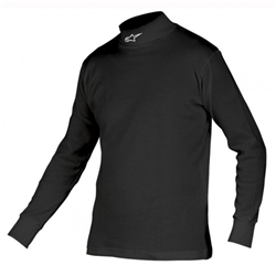 Garage Sale - Alpinestars Fire Resistant Underwear Top, Race Series F1, SFI 3.3, Black, Size XL